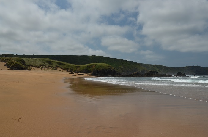 Belle plage des Asturies en Espagne