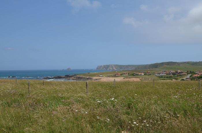 Environnement de la plage de Verdicio en Espagne